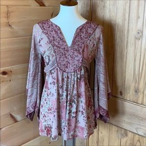 Express floral print shabby chic Boho style top S